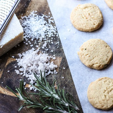 Shortbread with Rosemary and Sea Salt